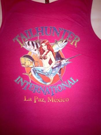 Fuscia women's tank logo shirt