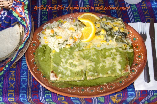 Fish salsa poblano 2 tags