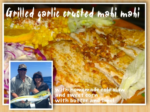 grilled mahi collage