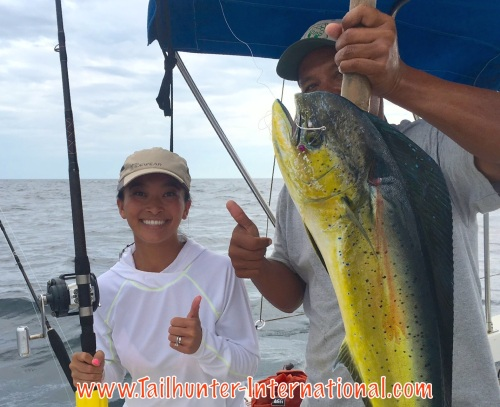 One of the rare dorado caught this week. Van Maxwell, again in the report with Captain Chito north of La Paz.