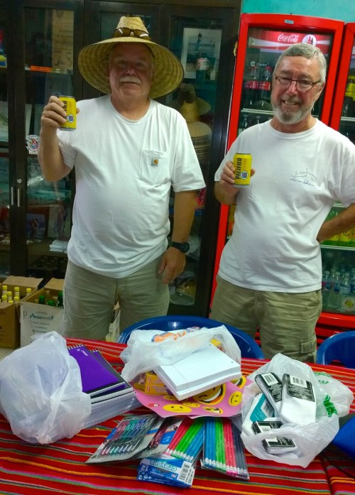 From Moscow Idaho, our amigos Jim and Jeff with a big load of school supplies